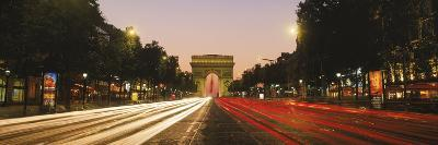 Traffic on the Road, Avenue Des Champs-Elysees, Arc De Triomphe, Paris, Ile-De-France, France--Photographic Print