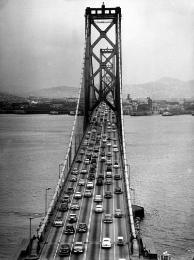 Traffic on the San Francisco Oakland Bay Bridge-Carl Mydans-Photographic Print