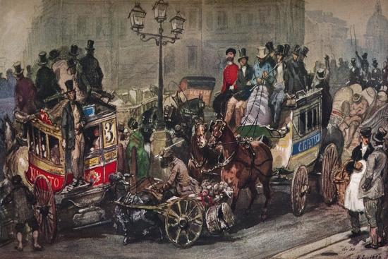 'Traffic Trouble in 50', 19th century-Eugene Louis Lami-Giclee Print