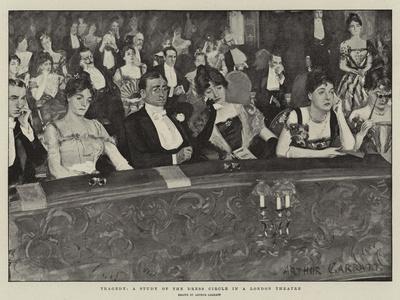 Tragedy, a Study of the Dress Circle in a London Theatre-Arthur Paine Garratt-Giclee Print
