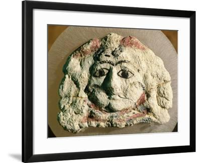 Tragic Mask Forming Part of Decoration of Sarcophagus from Kherson, Ukraine--Framed Giclee Print