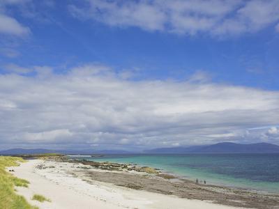 Traigh Bhan Beach and Sound of Iona, Isle of Iona, Inner Hebrides, Scotland, United Kingdom, Europe-Neale Clarke-Photographic Print