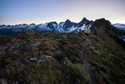 Trail Running in the North Cascades, Washington-Steven Gnam-Photographic Print