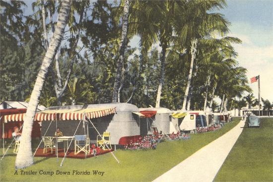 Trailer Campground, Florida--Art Print