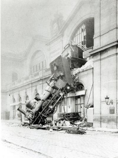 Train Accident at the Gare Montparnasse in Paris on 22nd October 1895--Photographic Print