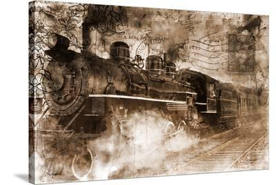 Train Approaching--Stretched Canvas Print