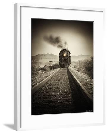 Train Arrival II-David Drost-Framed Art Print