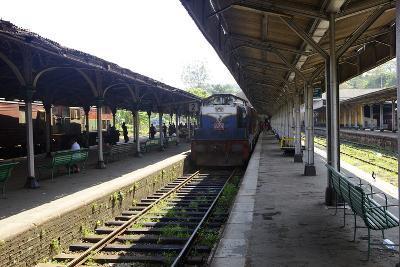 Train at Platform, Kandy Train Station, Kandy, Sri Lanka, Asia-Simon Montgomery-Photographic Print