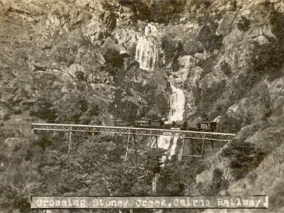 Train Crossing Stoney Creek on the Cairns Railway, Queensland, Australia--Photographic Print
