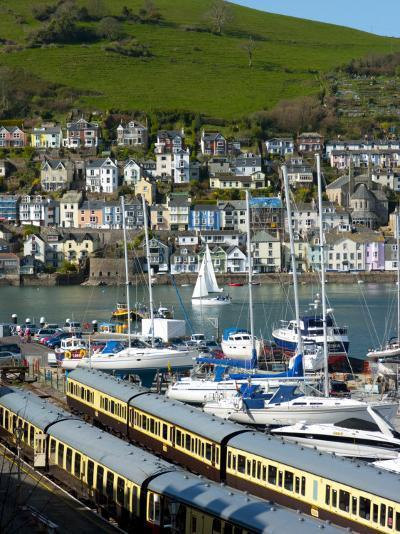 Train, Dartmouth Harbour, Devon, England, United Kingdom, Europe-Charles Bowman-Photographic Print
