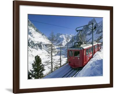 Train du Montenvers by Mer de Glace, Chamonix, Haute Savoie, France-Walter Bibikow-Framed Photographic Print