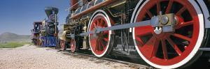 Train Engine on a Railroad Track, Golden Spike National Historic Site, Utah, USA