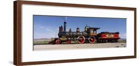 Train Engine on a Railroad Track, Locomotive 119, Golden Spike National Historic Site, Utah, USA-null-Framed Photographic Print