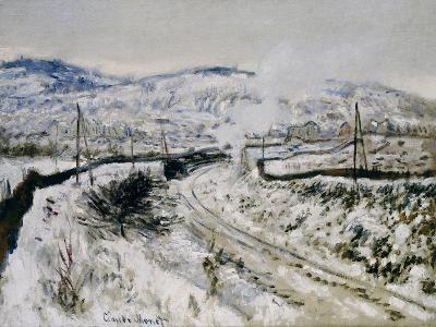 Train in the Snow at Argenteuil. Train dans la Neige a Argenteuil. 1875-Claude Monet-Giclee Print