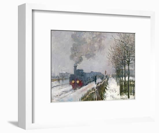 Train in the Snow or the Locomotive, 1875-Claude Monet-Framed Premium Giclee Print