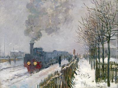Train in the Snow-Claude Monet-Giclee Print