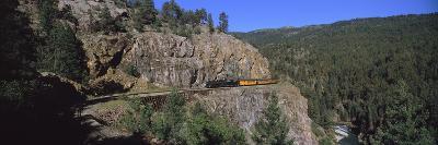 Train Moving on a Railroad Track, Durango and Silverton Narrow Gauge Railroad, Silverton, San Ju...--Photographic Print