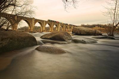 Train over James River-Tom Lynch Photography LLC-Photographic Print