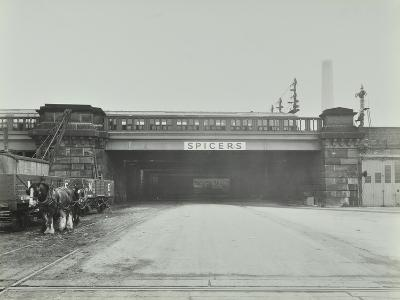 Train Passing over the Chelsea Road, London, 1936--Photographic Print