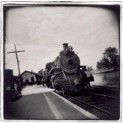 Train Pulling Into Station-John Glembin-Photographic Print