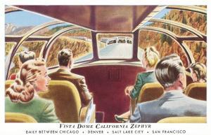 Train's Vista Dome, California Zephyr