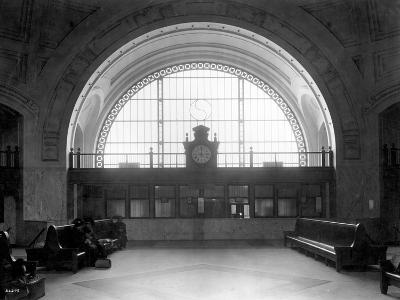 Train Station with Vaulted Archway, Circa 1911-Asahel Curtis-Giclee Print