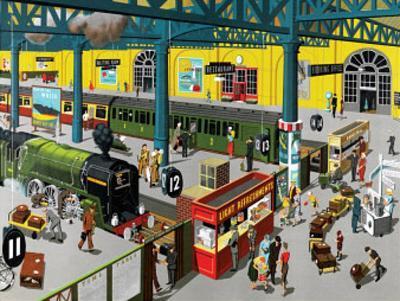 Train Station--Art Print
