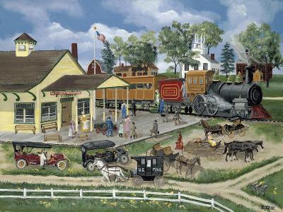 Train Station-Bob Fair-Giclee Print