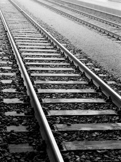 Train Tracks, Zurich, Switzerland-Walter Bibikow-Photographic Print