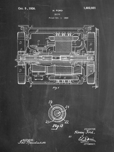 Train Transmission Patent-Cole Borders-Art Print