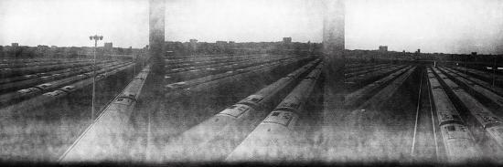 Train Yard Triptych-Evan Morris Cohen-Photographic Print