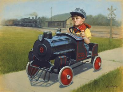 Train-David Lindsley-Giclee Print