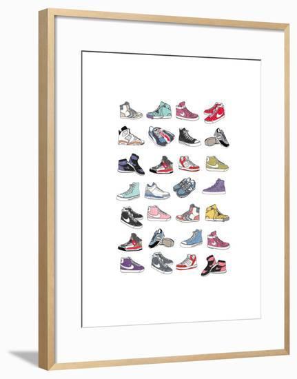 Trainers-Hanna Melin-Framed Art Print