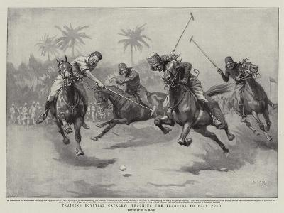 Training Egyptian Cavalry, Teaching the Troopers to Play Polo-William T^ Maud-Giclee Print