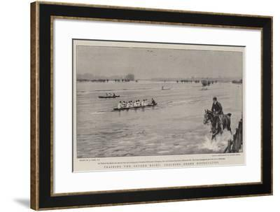Training the Oxford Eight, Coaching under Difficulties-Joseph Nash-Framed Giclee Print