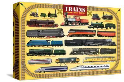 Trains for Kids--Stretched Canvas Print