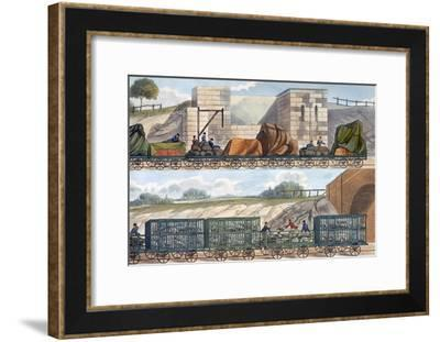 Trains on the Liverpool and Manchester Railway, 1832-1833-SG Hughes-Framed Giclee Print
