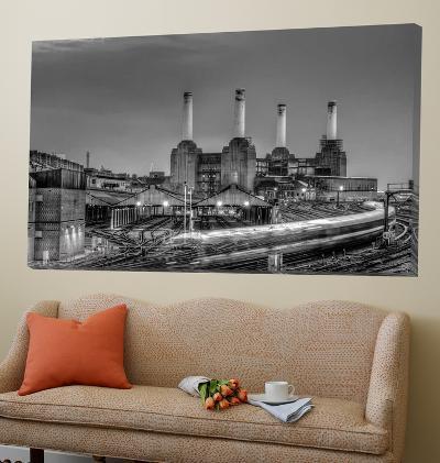 Trains pass Battersea Power Sation-Nick Jackson-Loft Art
