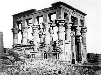 Trajan's Kiosk at Philae, Nubia, Egypt, 1878-Felix Bonfils-Giclee Print