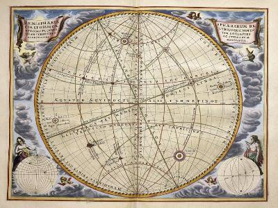 Trajectories of Planets and Stars as Seen from Earth-Andreas Cellarius-Giclee Print