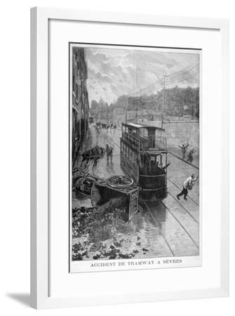 Tram Accident, Sevres, Paris, 1897-F Meaulle-Framed Giclee Print