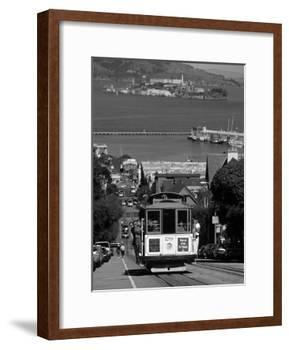 Tram, Hyde St, San Francisco, California, USA-Walter Bibikow-Framed Photographic Print