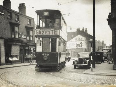 Tram in Birmingham--Photographic Print