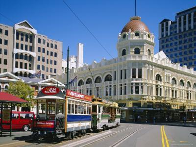 Tram in Cathedral Square, Christchurch, New Zealand, Australasia-Rolf Richardson-Photographic Print