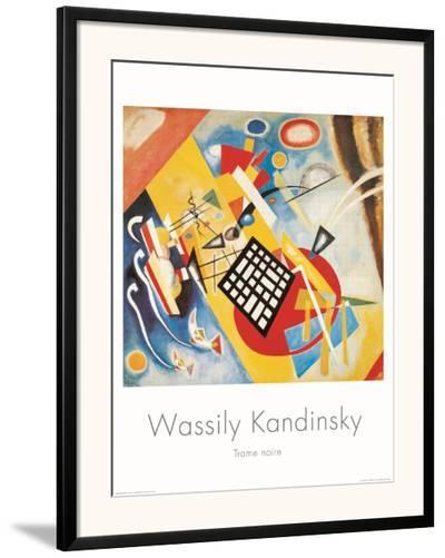 Trame Noire, c.1922-Wassily Kandinsky-Framed Art Print