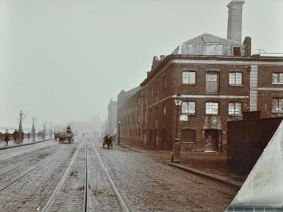 Tramlines on the Albert Embankment, Lambeth, London, 1909--Photographic Print