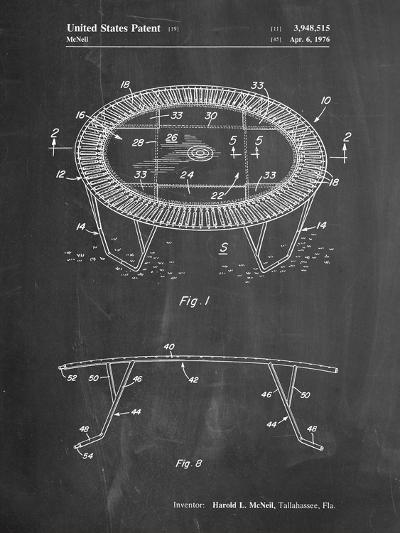 Trampoline Patent-Cole Borders-Art Print