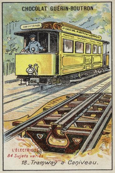 Tramway with Electrified Third Rail--Giclee Print