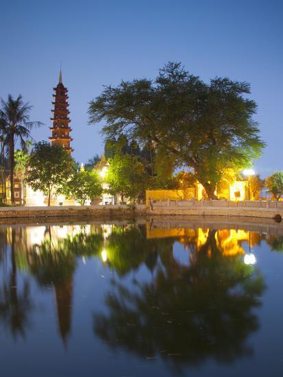 Tran Quoc Pagoda, West Lake (Ho Tay), Hanoi, Vietnam-Jon Arnold-Photographic Print