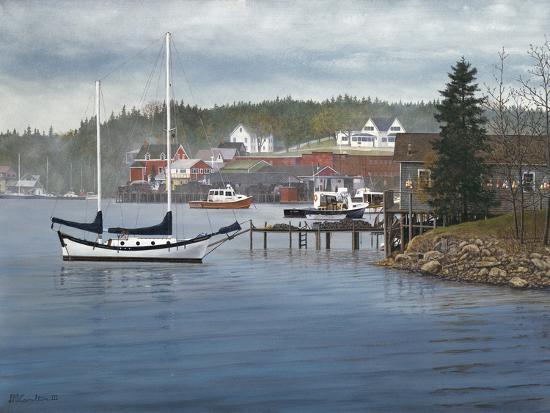 Tranquil Harbor-David Knowlton-Giclee Print